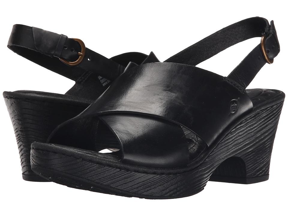 Born Coralyn (Black Full Grain Leather) Women