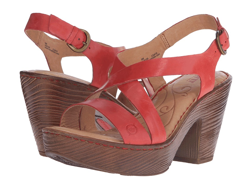 Born - Tomar (Fire Full Grain Leather) Women's Sandals