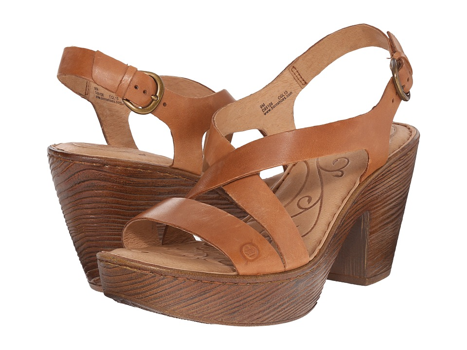 Born - Tomar (Nut Full Grain Leather) Women's Sandals
