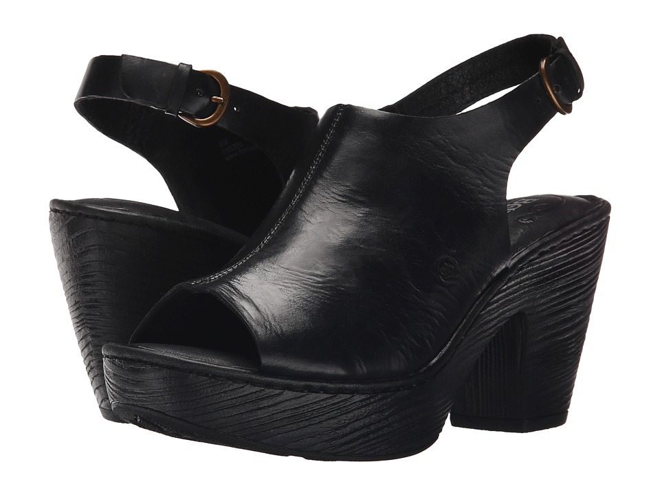 Born - Fatema (Black Full Grain Leather) Women
