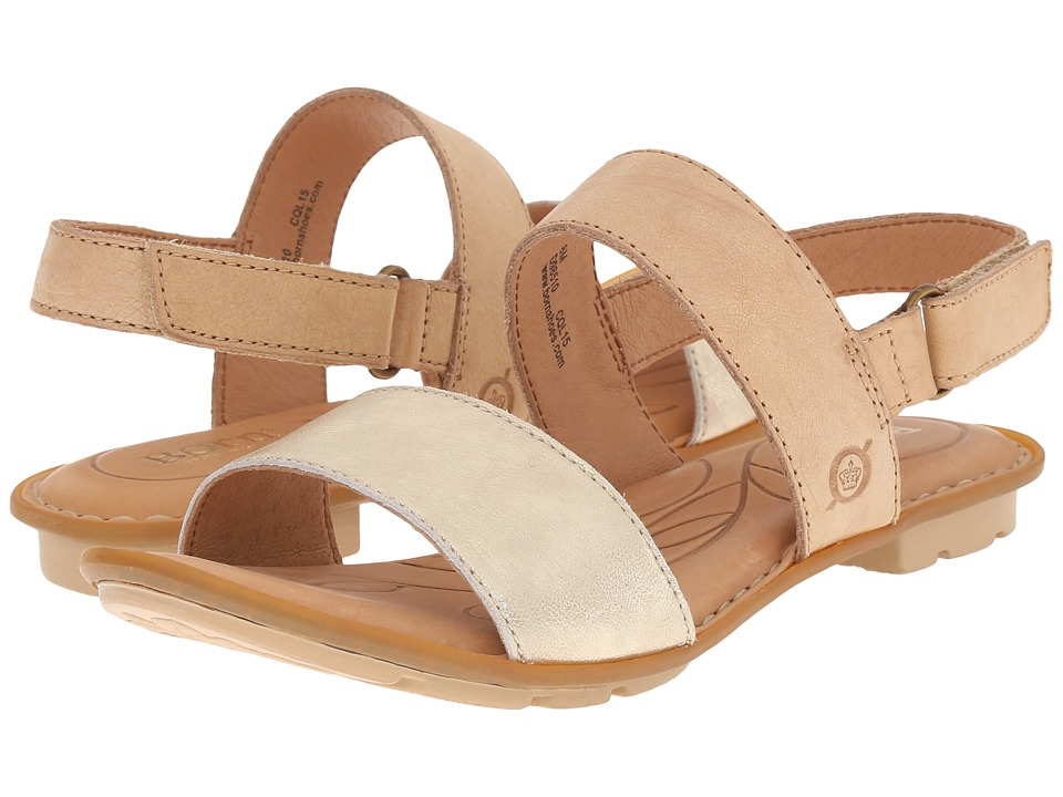 Born - Wendy (Crema/Grezzo Metallic) Women's Sandals