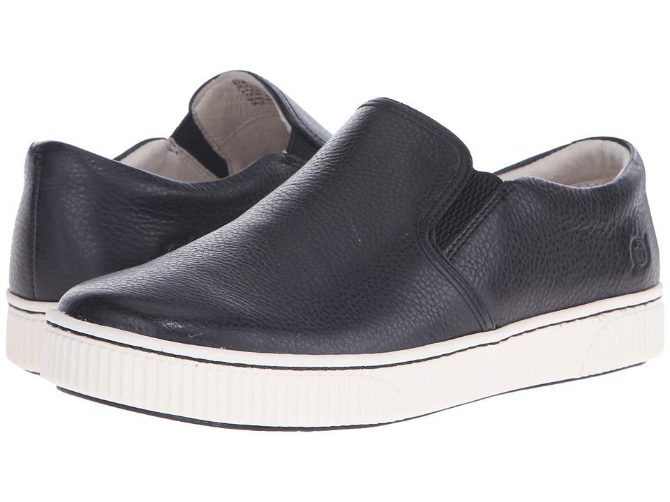 Born - Richie (Black Full Grain Leather) Women's Slip on Shoes