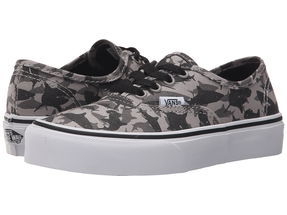 Vans Kids - Authentic (Little Kid/Big Kid) ((Reef Sharks) Drizzle/True White) Boys Shoes