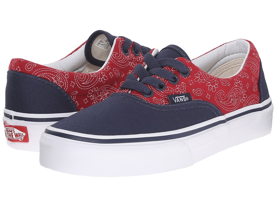 Vans Kids - Era (Little Kid/Big Kid) ((Bandana) Dress Blues/Chili Pepper) Boys Shoes