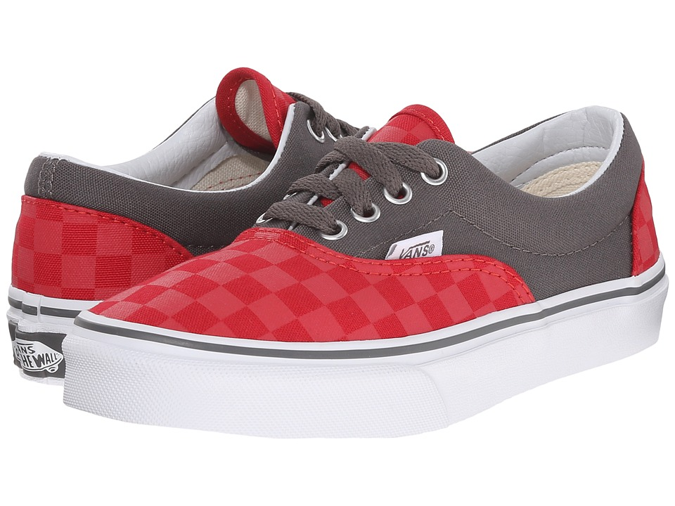 Vans Kids - Era (Little Kid/Big Kid) ((Checkerboard) Racing Red/Pewter) Boys Shoes