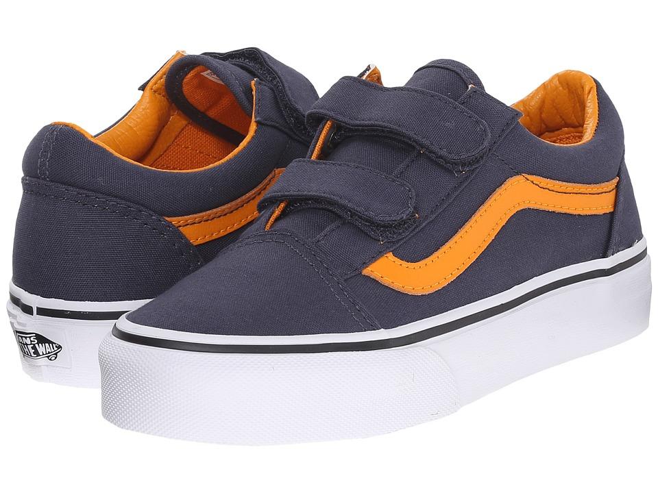 Vans Kids - Old Skool V (Little Kid/Big Kid) ((Sport Pop) Parisian Night/Dark Cheddar) Boys Shoes