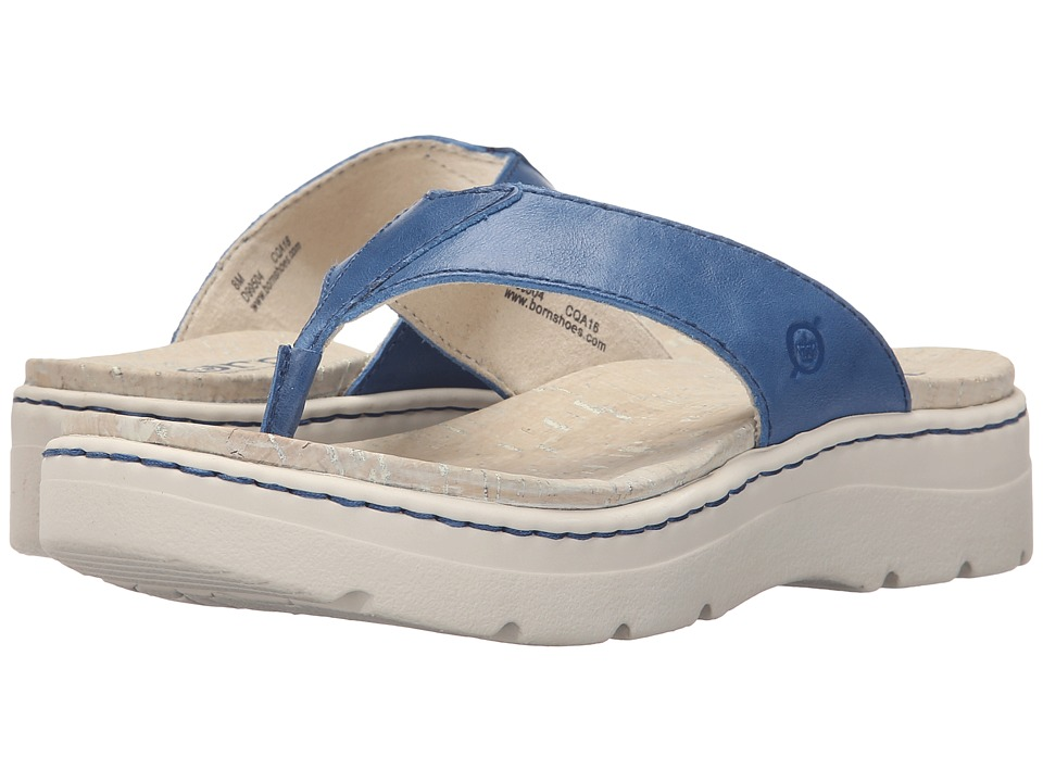 Born Bermuda (Sea Blue Full Grain Leather) Women