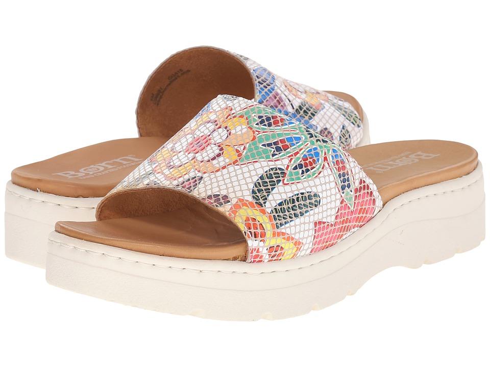 Born - Benitez (Bianco Floral Print Suede) Women's Sandals