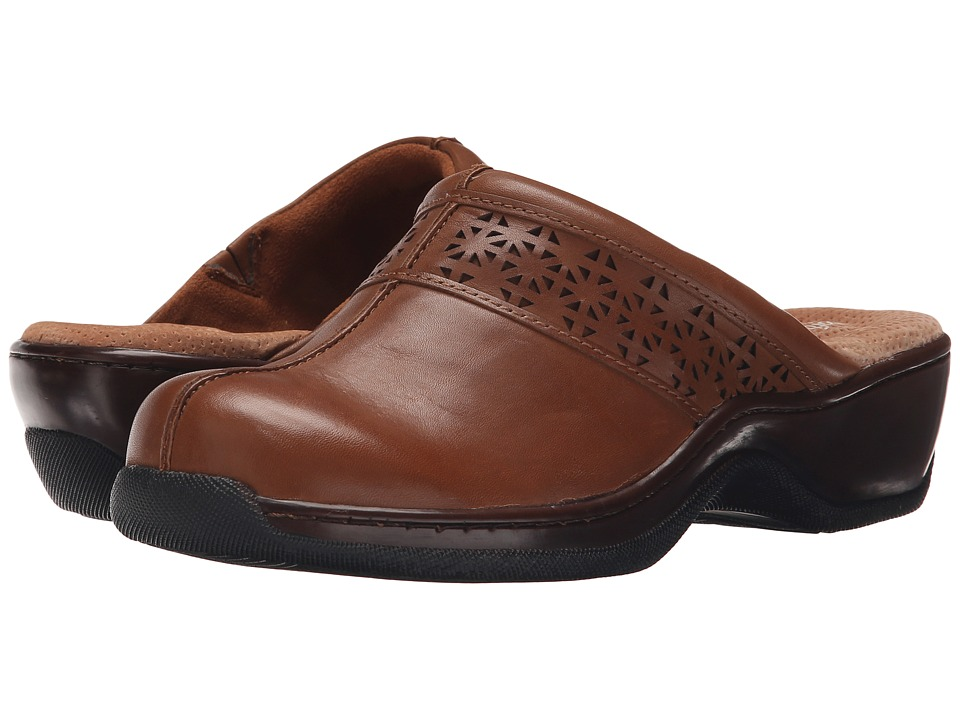 SoftWalk Abby Laser (Cognac Full Grain Nappa) Women