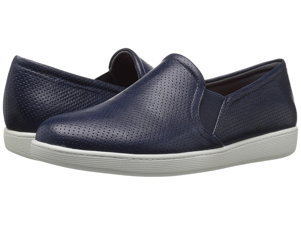 Trotters - Americana (Navy Soft Leather) Women's Slip on Shoes
