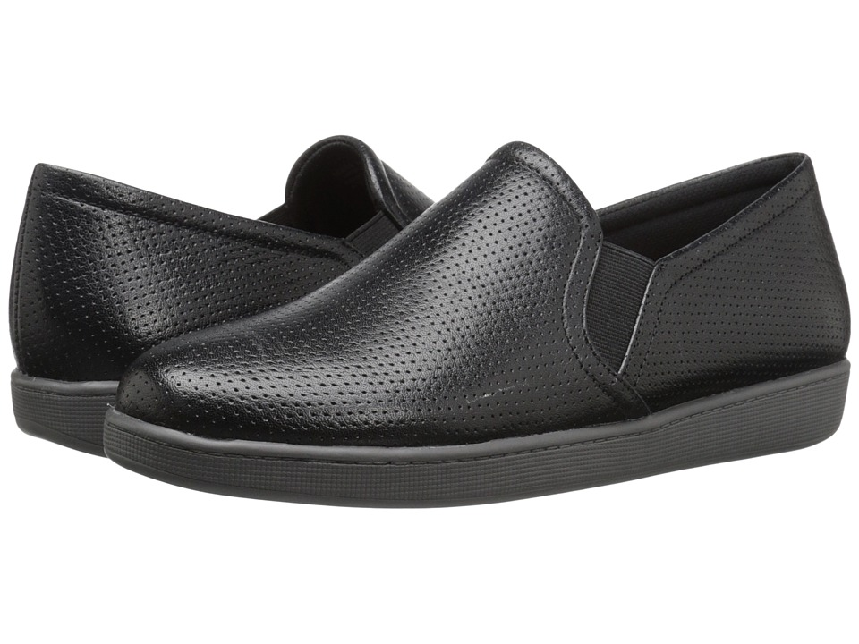 Trotters - Americana (Black Soft Leather) Women's Slip on Shoes