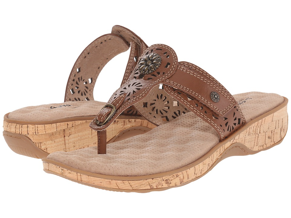 SoftWalk - Beaumont Laser (Luggage) Women's Sandals