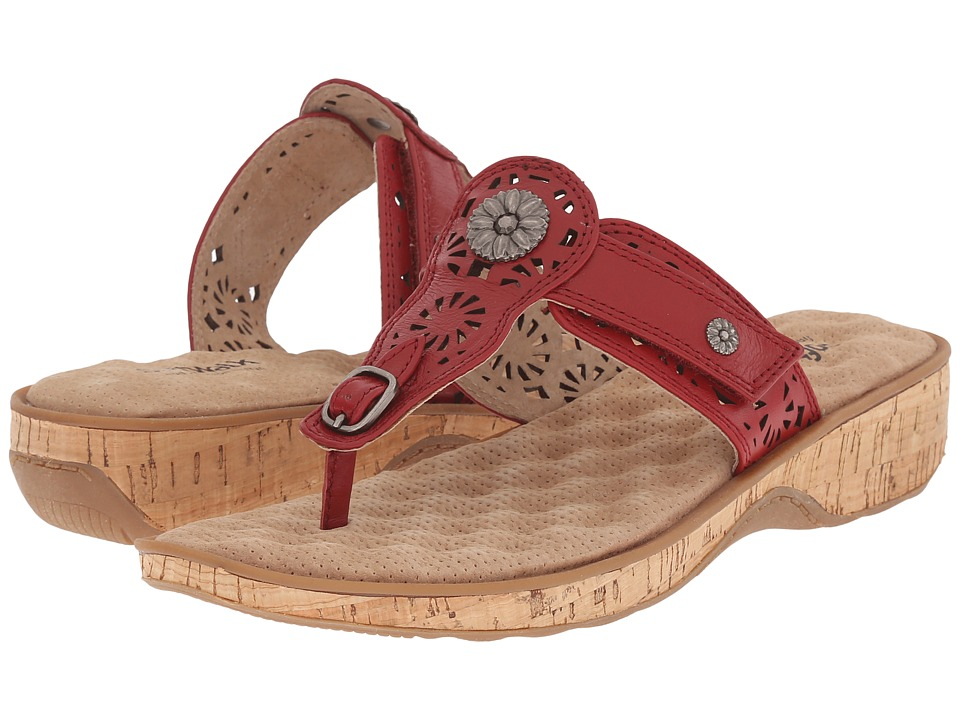 SoftWalk - Beaumont Laser (Red) Women's Sandals