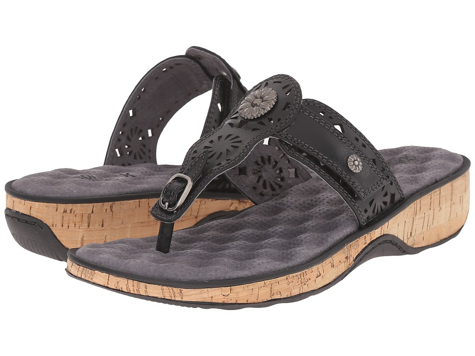 SoftWalk - Beaumont Laser (Black) Women's Sandals