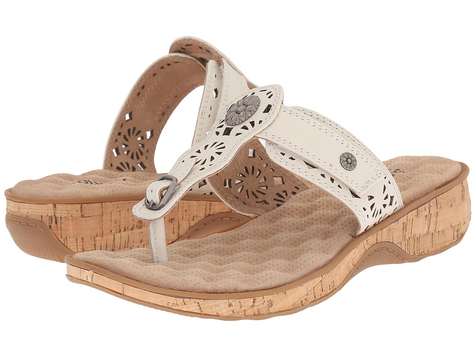 SoftWalk - Beaumont Laser (Off White) Women's Sandals