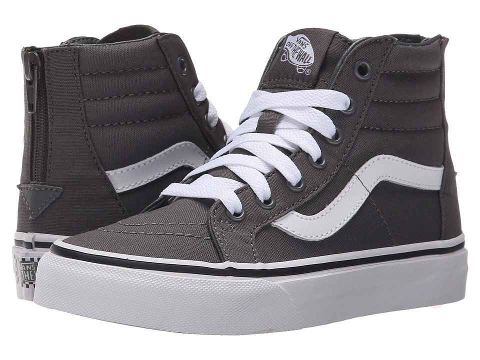 Vans Kids - Sk8-Hi Zip (Little Kid/Big Kid) ((Pop Check) Pewter/True White) Boys Shoes
