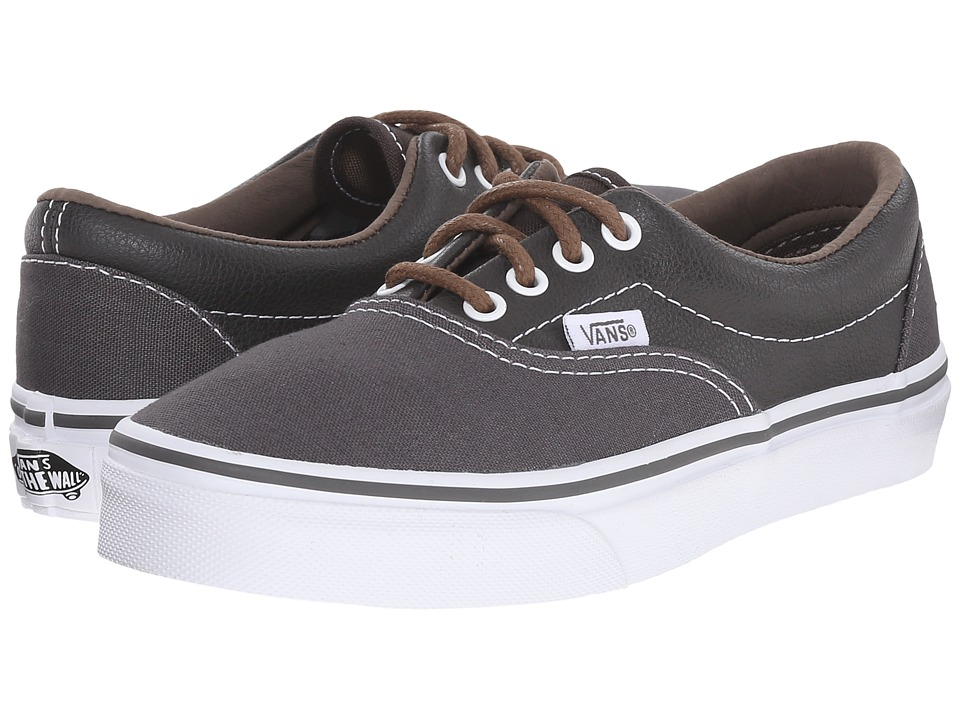Vans Kids - Era (Little Kid/Big Kid) ((Leather/Plaid) Asphalt/Beluga) Boys Shoes