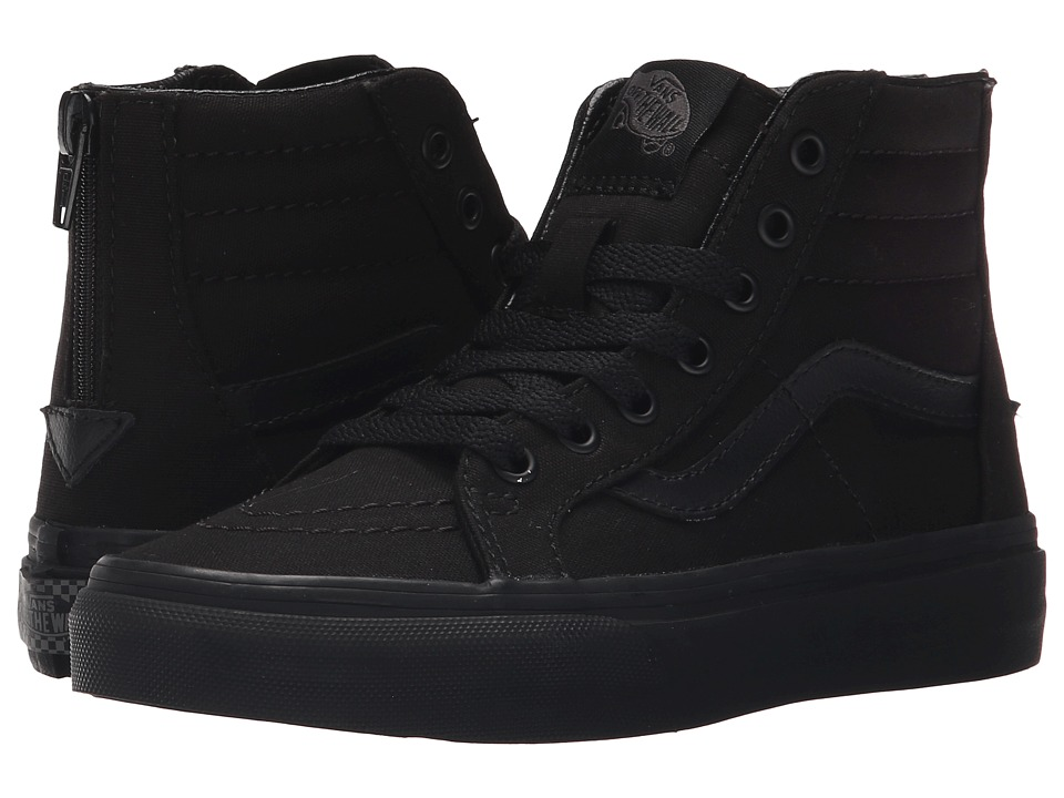 Vans Kids - Sk8-Hi Zip (Little Kid/Big Kid) ((Pop Check) Black/Black) Boys Shoes