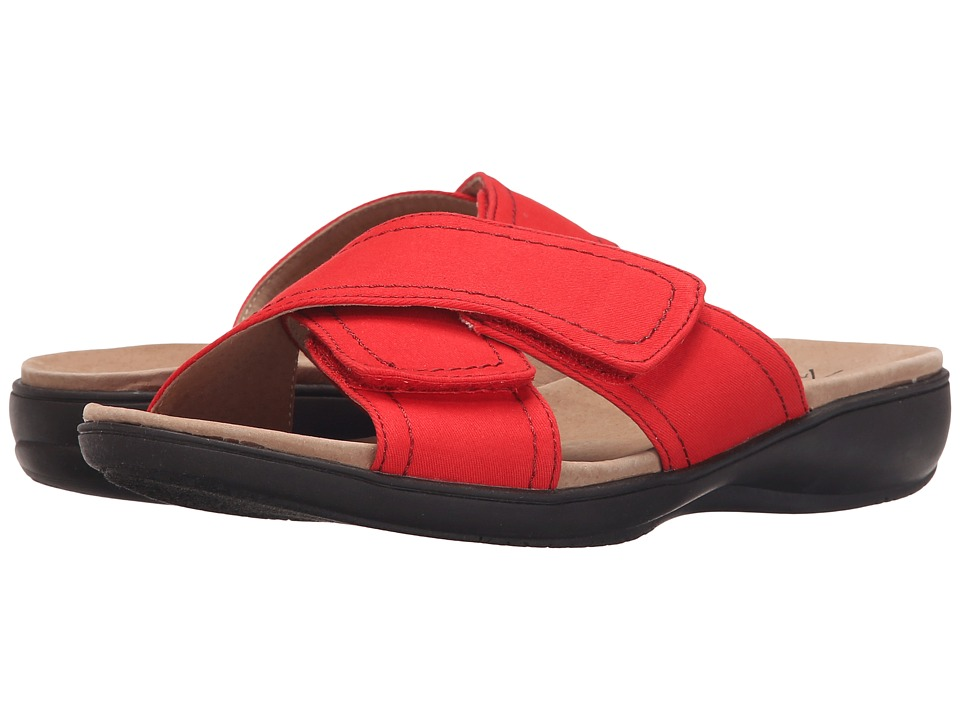 Trotters - Getty (Red Canvas) Women's Sandals
