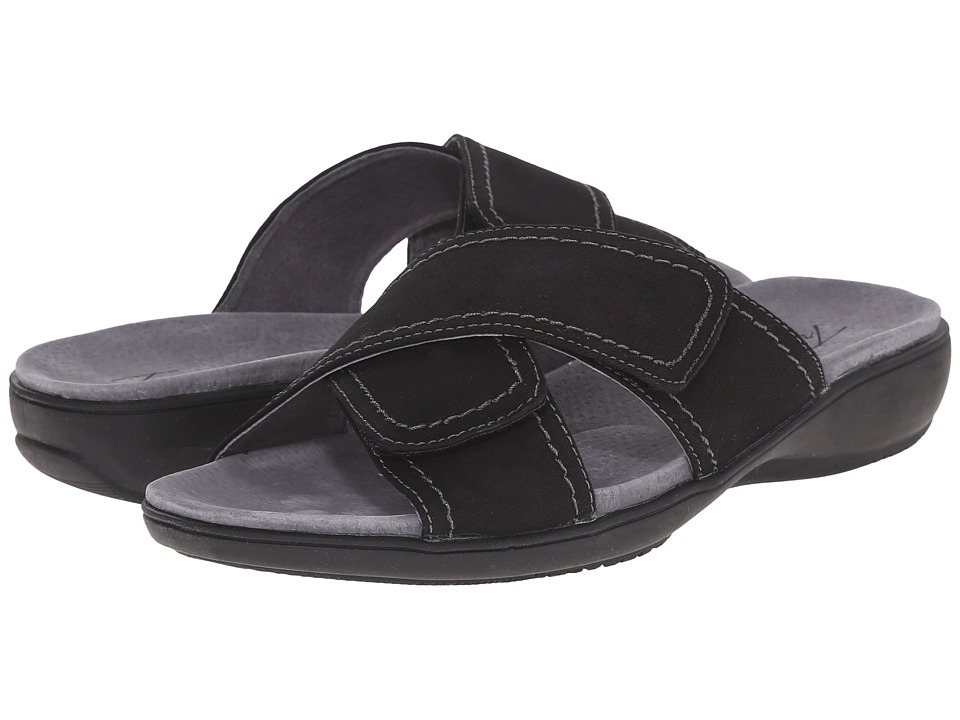Trotters - Getty (Black Canvas) Women's Sandals