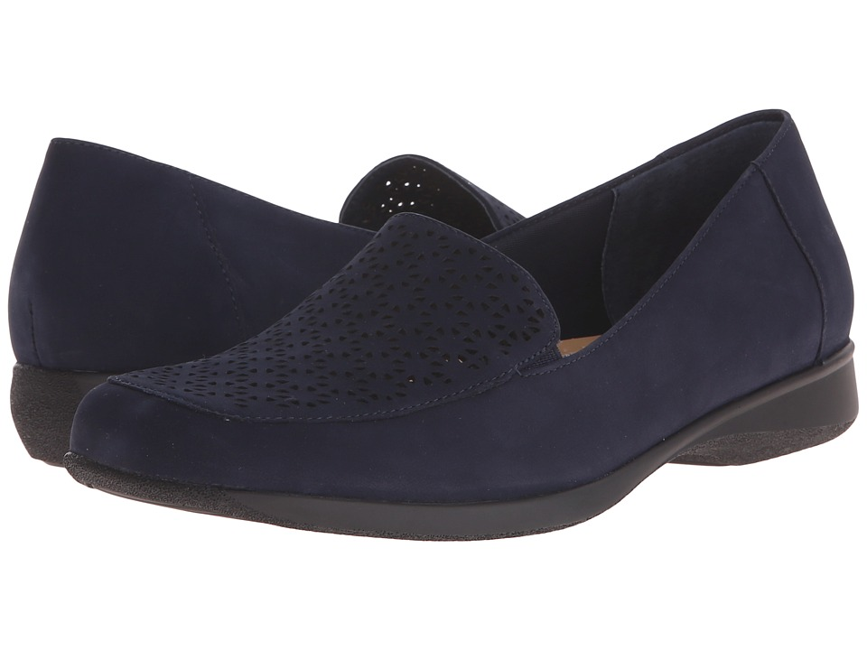Trotters Jenn (Navy Nubuck Leather Laser Cut) Women