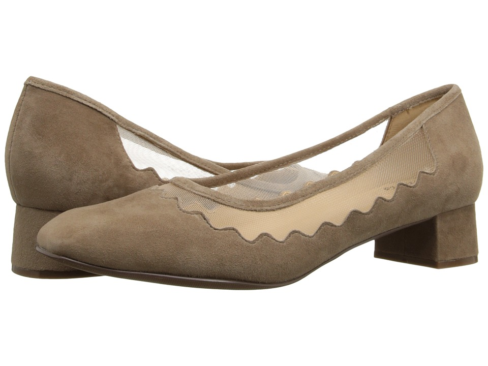 Trotters - Lark (Dark Nude Kid Suede Leather/Mesh Fabric) Women's 1-2 inch heel Shoes