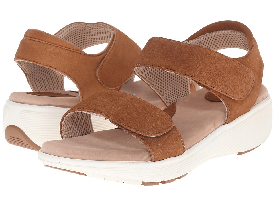 SoftWalk - Elevate 2.0 (Tan Tumbled Buff Leather) Women's Sandals