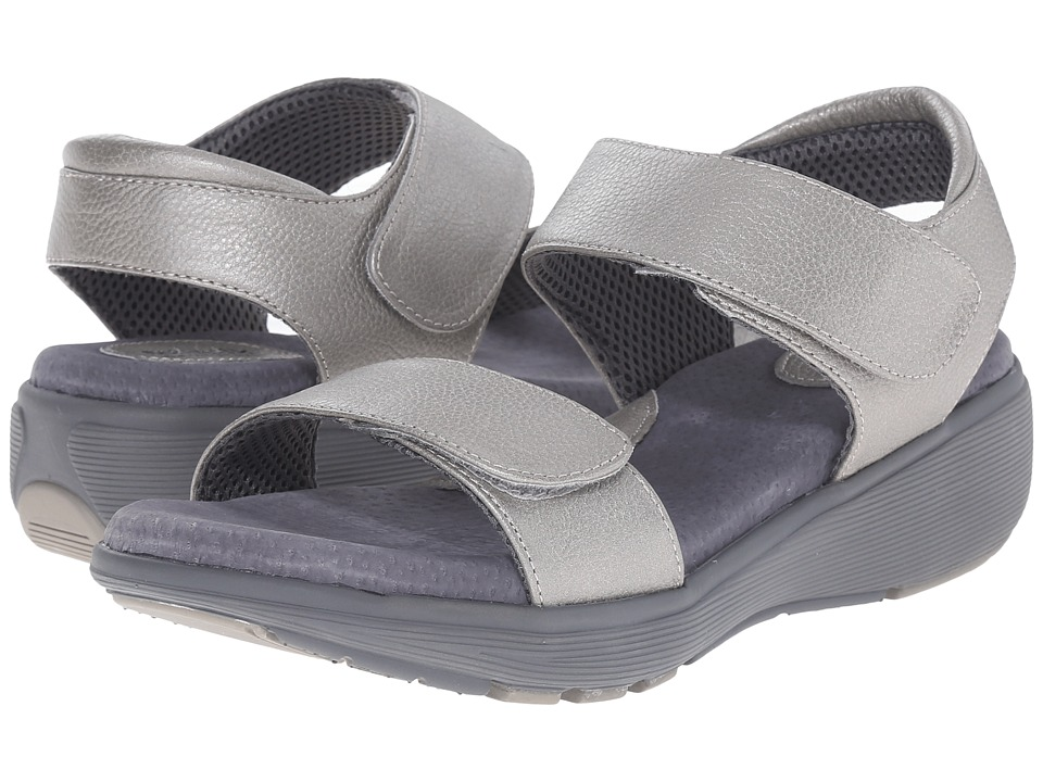 SoftWalk - Elevate 2.0 (Silverwash Metallic Soft Tumbled Leather) Women's Sandals