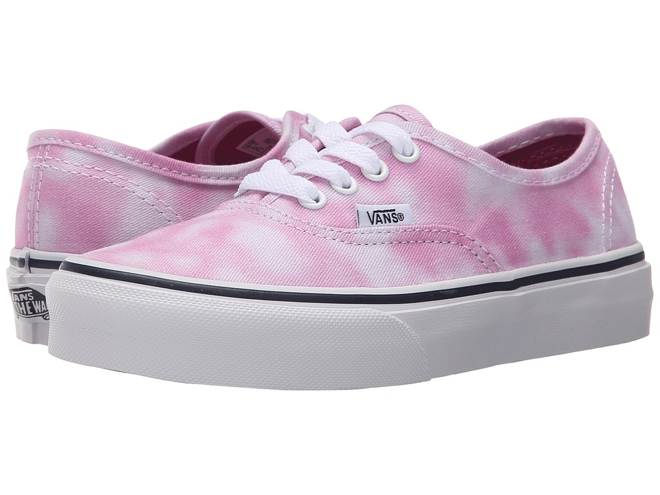 Vans Kids - Authentic (Little Kid/Big Kid) ((Tie Dye) Rose Violet) Girls Shoes