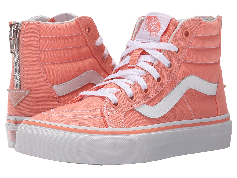 Vans Kids - Sk8-Hi Zip (Little Kid/Big Kid) (Desert Flower/True White) Girls Shoes