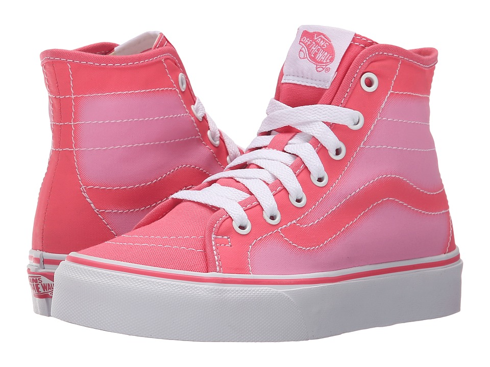 Vans Kids - Sk8-Hi Decon (Little Kid/Big Kid) ((Ombre Fade) Camellia Rose/Pink) Girls Shoes