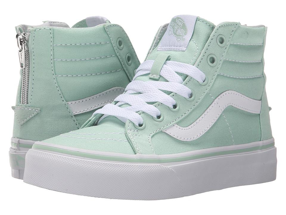 fcf9859c04 Vans Kids - Sk8-Hi Zip (Little Kid Big Kid) (Gossamer Green True White)  Girls Shoes