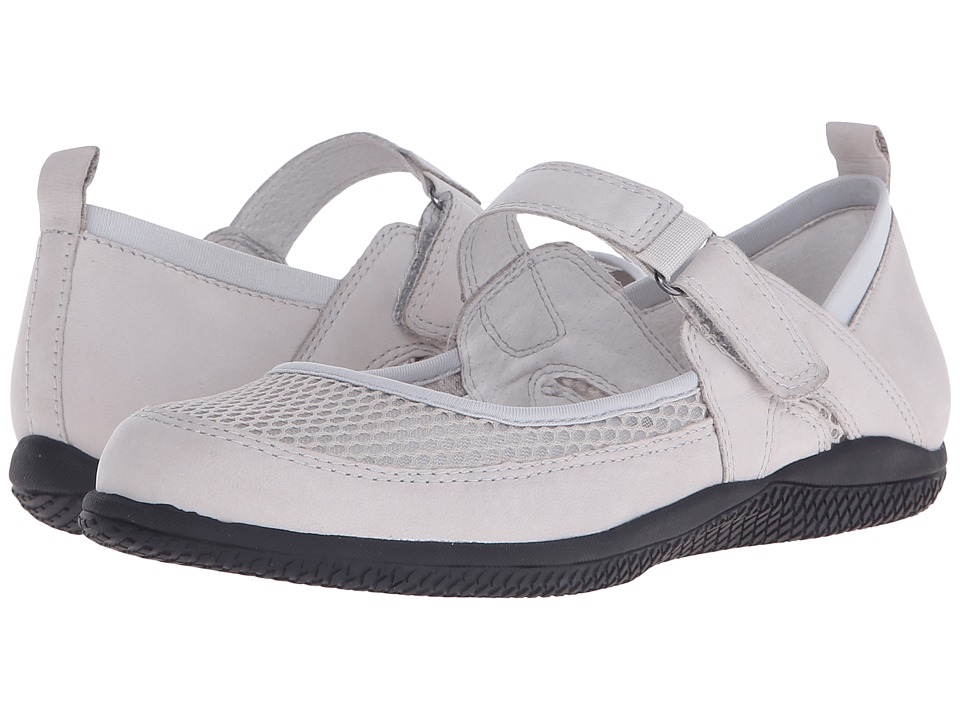 SoftWalk - Haddley (Light Grey Nubuck Leather/Soft Mesh Fabric) Women's Maryjane Shoes