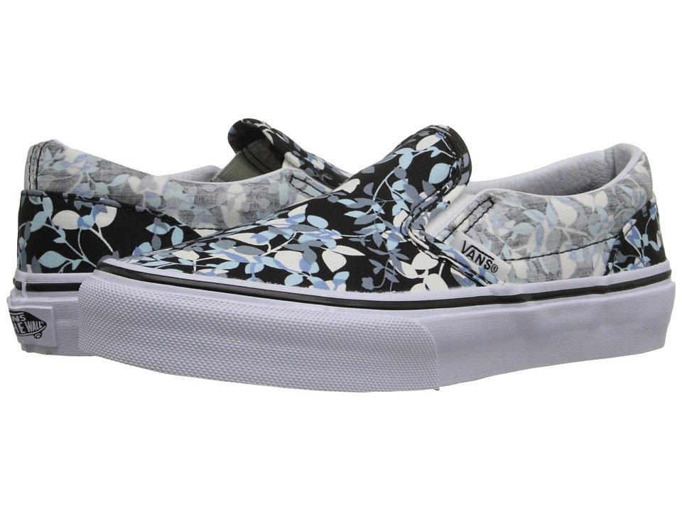 Vans Kids - Classic Slip-On (Little Kid/Big Kid) ((Reverse Floral) Black/True White) Girls Shoes