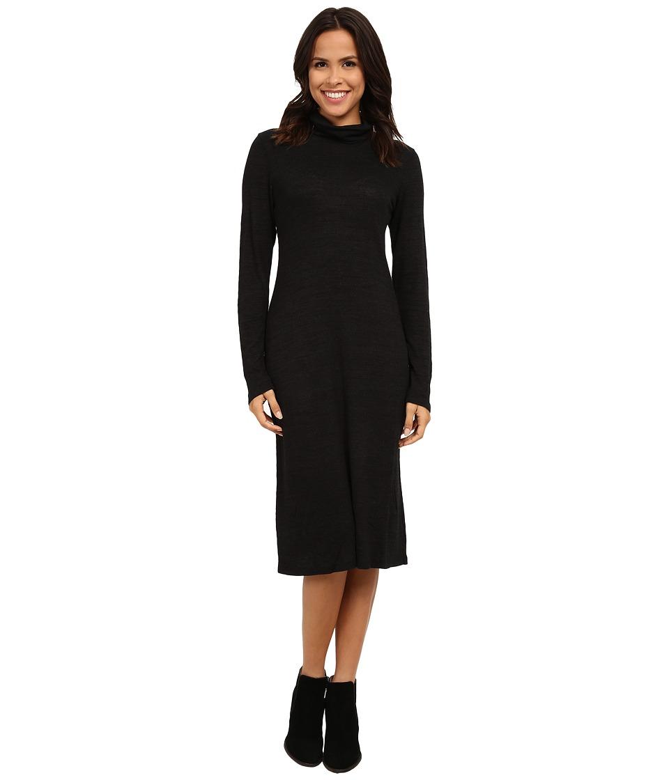 Allen Allen - Long Sleeve Turtleneck Dress (Black) Women's Dress