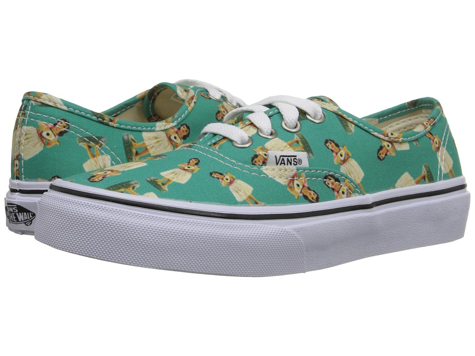 Vans Kids - Authentic (Little Kid/Big Kid) ((Digi Hula) Turquoise/True White) Girls Shoes