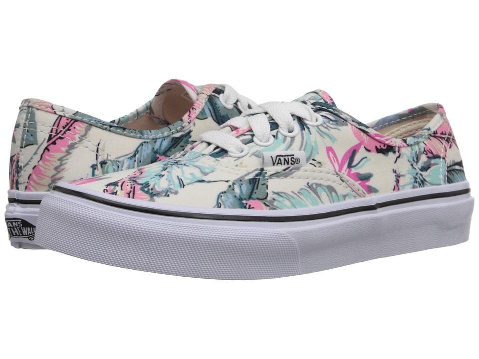 Vans Kids - Authentic (Little Kid/Big Kid) ((Tropical) Multi/True White) Girls Shoes