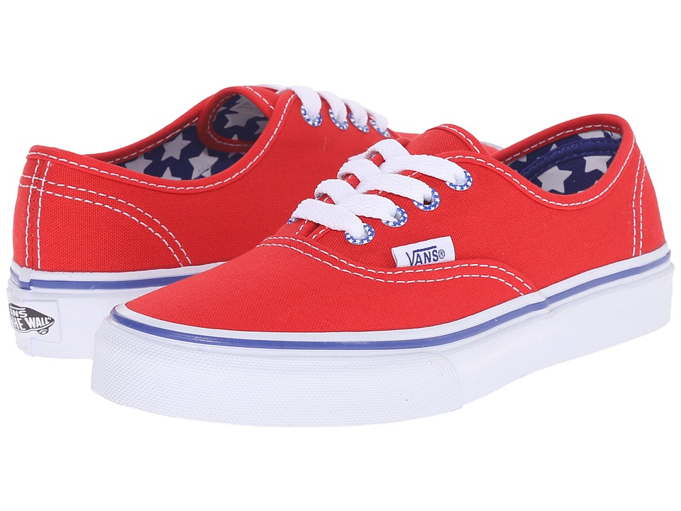 Vans Kids - Authentic (Little Kid/Big Kid) ((Star Eyelet) High Risk Red) Girls Shoes