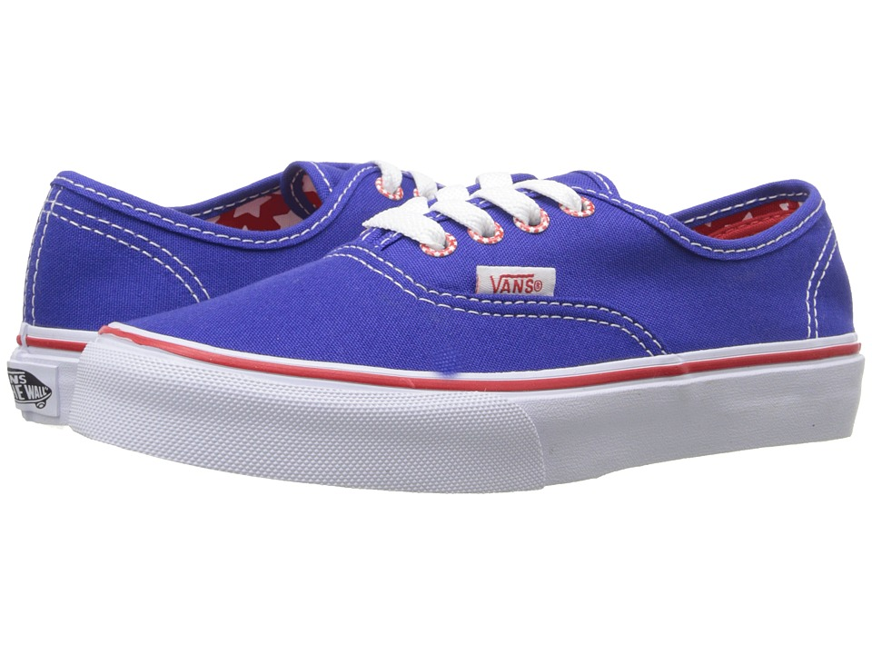 Vans Kids - Authentic (Little Kid/Big Kid) ((Star Eyelet) Surf The Web) Girls Shoes