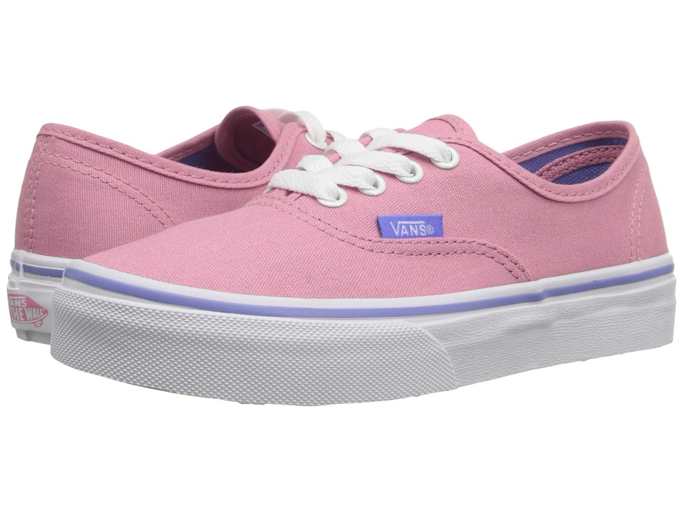 Vans Kids - Authentic (Little Kid/Big Kid) ((Iridescent Eyelets) Wild Rose) Girls Shoes