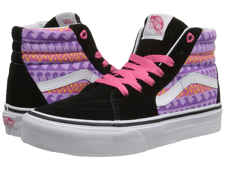 Vans Kids - SK8-Hi (Little Kid/Big Kid) ((Pink Helmet Posse) Multi/Black) Girls Shoes
