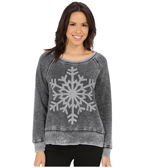 Allen Allen - Snowflake Tee (Black) Women's T Shirt