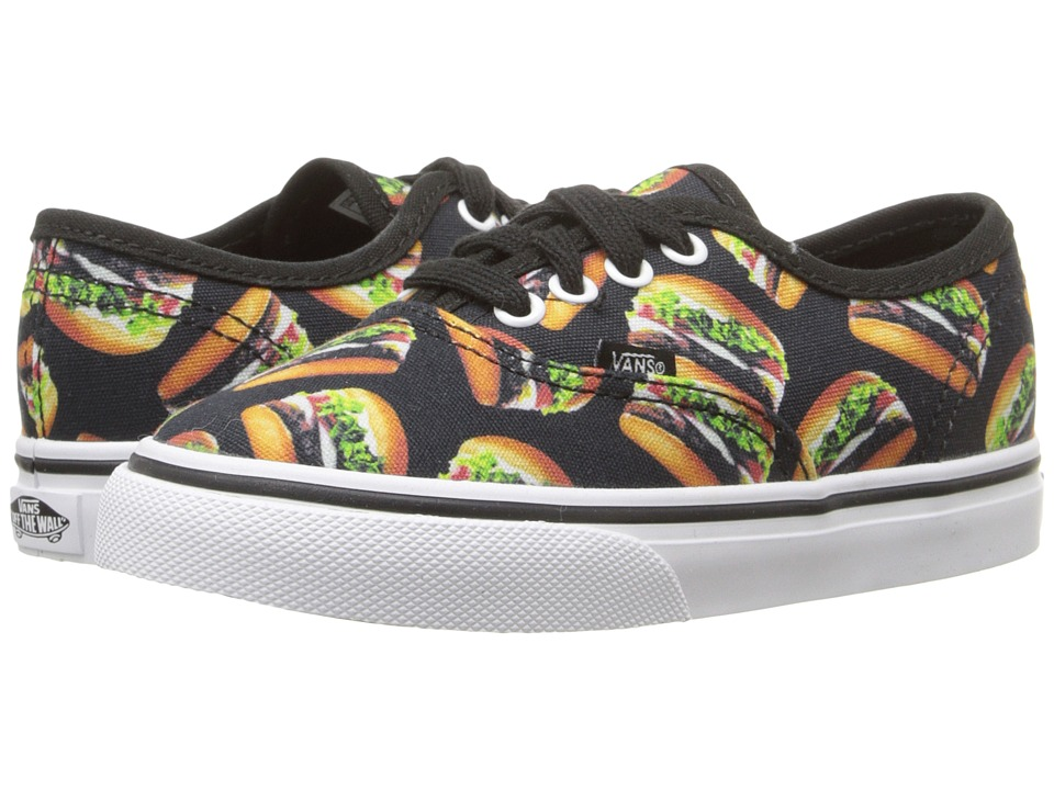Vans Kids - Authentic (Toddler) ((Late Night) Black/Hamburgers) Boy's Shoes