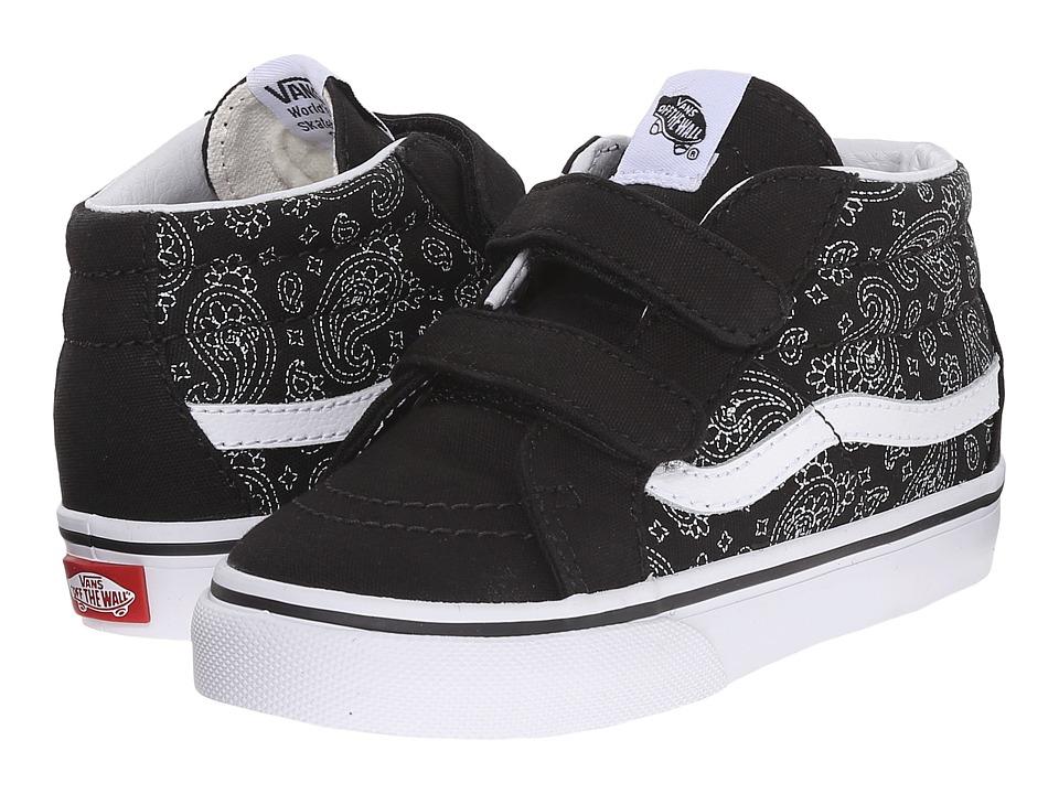 Vans Kids - Sk8-Mid Reissue V (Toddler) ((Bandana) Black/True White) Boys Shoes