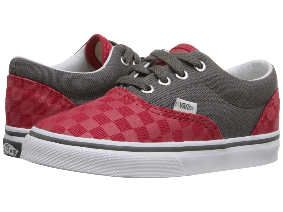 Vans Kids - Era (Toddler) ((Checkerboard) Racing Red/Pewter) Boys Shoes