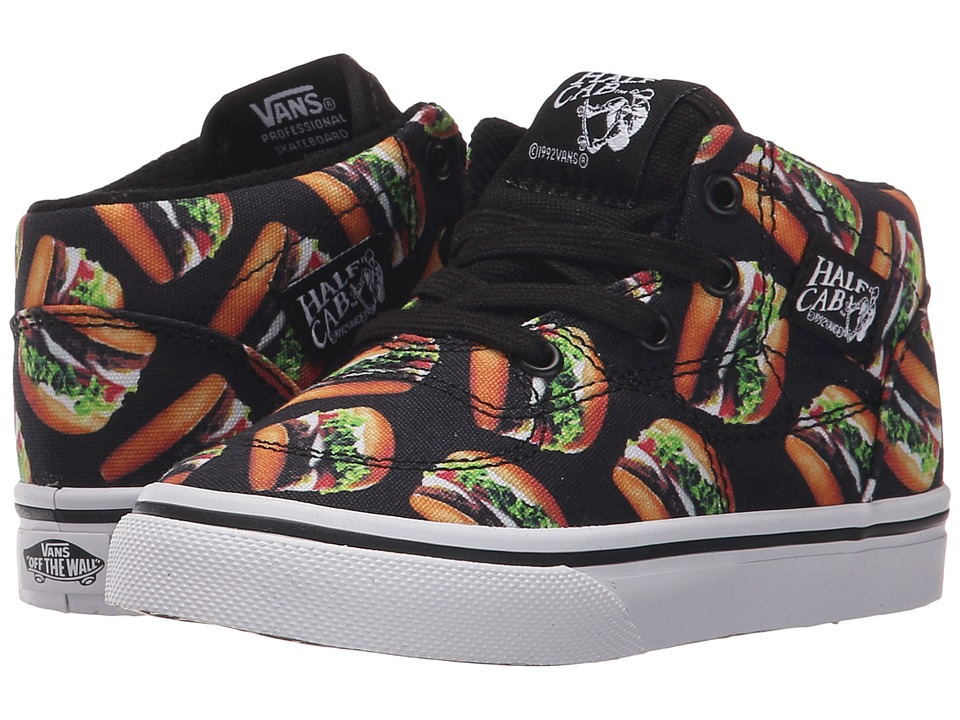 Vans Kids - Half Cab (Toddler) ((Late Night) Black/Hamburgers) Boys Shoes
