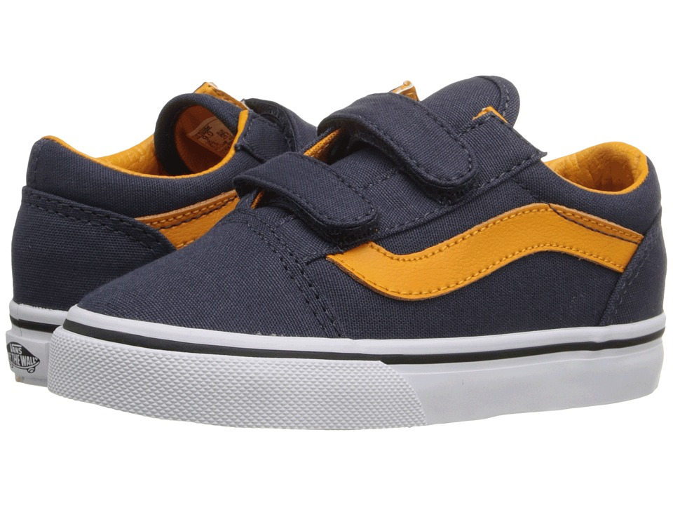 Vans Kids - Old Skool V (Toddler) ((Sport Pop) Parisian Night/Dark Cheddar) Boys Shoes