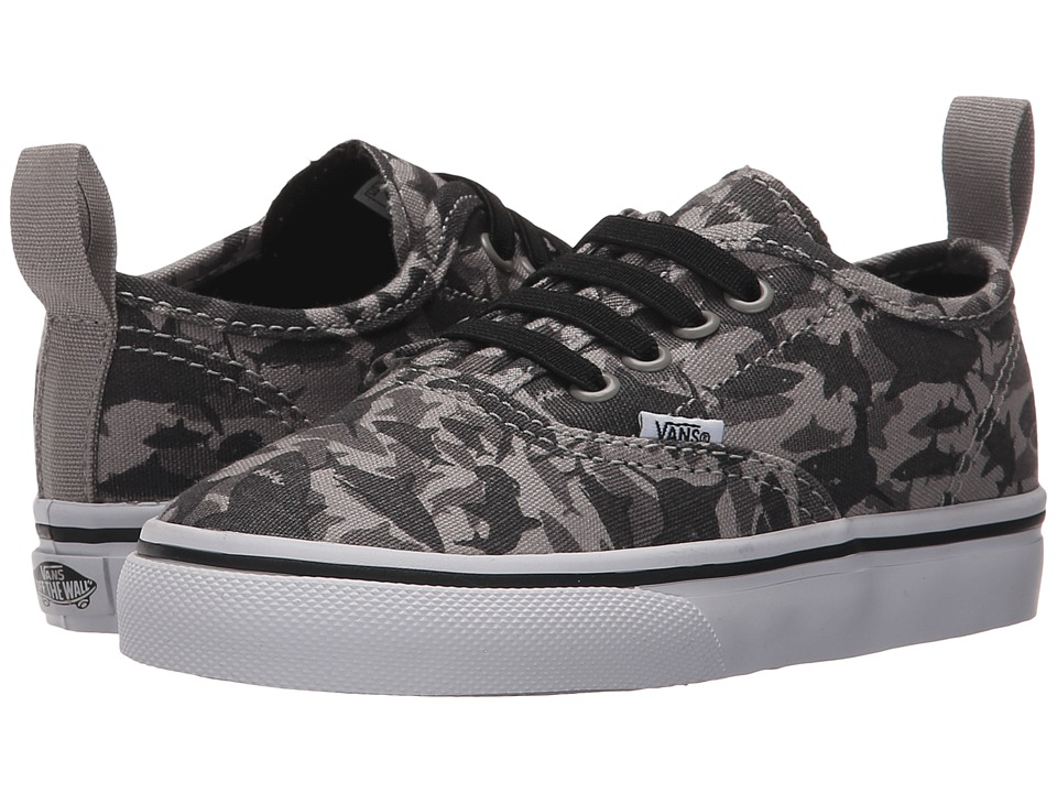 Vans Kids - Authentic V Lace (Toddler) ((Reef Sharks) Drizzle/True White) Boys Shoes