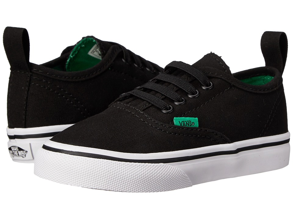 Vans Kids - Authentic V Lace (Toddler) ((Sport Pop) Black/Kelly Green) Boys Shoes
