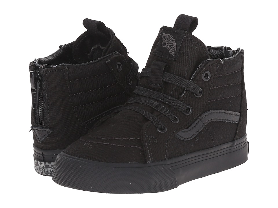 Vans Kids - Sk8-Hi Zip Canvas (Toddler) ((Pop Check) Black/Black) Boys Shoes